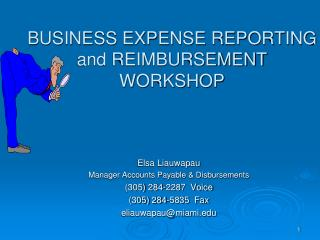 BUSINESS EXPENSE REPORTING and REIMBURSEMENT WORKSHOP
