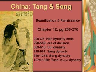 China: Tang & Song
