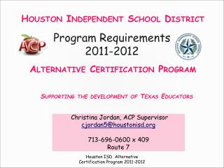 Program Requirements 2011-2012