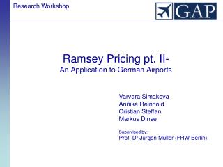 Ramsey Pricing pt. II- An Application to German Airports