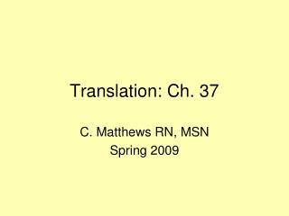 Translation: Ch. 37