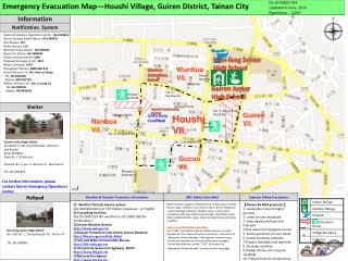 Emergency Evacuation Map—Houshi Village, Guiren District, Tainan City