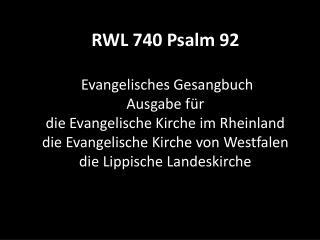 740 Psalm 92