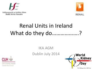 Renal Units in Ireland What do they do……………….?