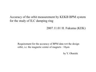 Accuracy of the orbit measurement by KEKB BPM system for the study of ILC damping ring