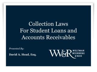 Collection Laws For Student Loans and Accounts Receivables