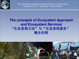 "The concepts of Ecosystem Approach and Ecosystem Services "" 生态系统方法""与""生态系统服务"" 概念初探"