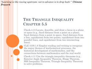 The Triangle Inequality  Chapter 5.5