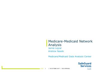 Medicare-Medicaid Network Analysis