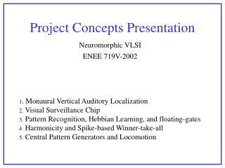 Project Concepts Presentation
