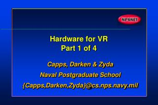 Hardware for VR Part 1 of 4