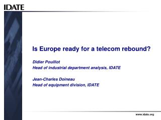Is Europe ready for a telecom rebound?