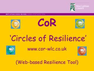 CoR  'Circles of Resilience' cor-wlc.co.uk (Web-based Resilience Tool)