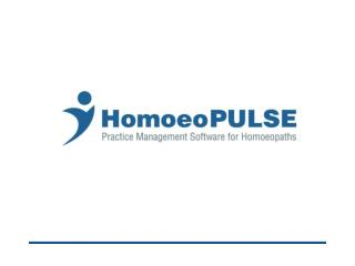 What is HomoeoPULSE…………..? HomoeoPULSE  is complete practice  management software