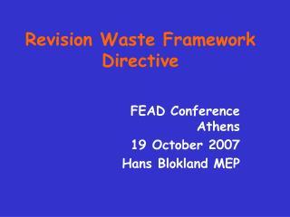 Revision Waste Framework Directive