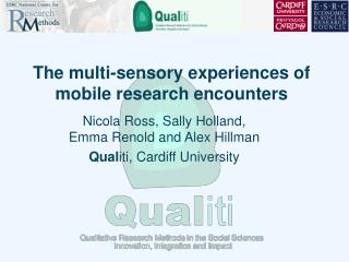 The multi-sensory experiences of mobile research encounters