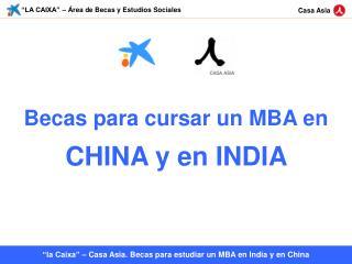 """""""LA CAIXA"""" – Área de Becas y Estudios Sociales"""