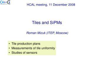 Roman Mizuk (ITEP, Moscow)