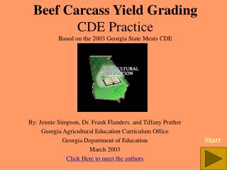 Beef Carcass Yield Grading CDE Practice Based on the 2003 Georgia State Meats CDE
