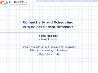 Connectivity and Scheduling  in Wireless Sensor Networks
