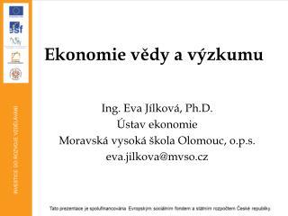 Ekonomie vědy a výzkumu