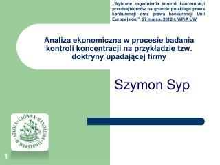 Szymon Syp