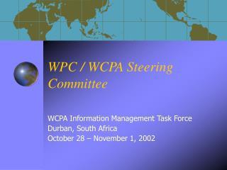 WPC / WCPA Steering Committee