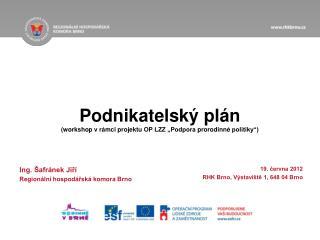 """Podnikatelský  plán (workshop  v rámci projektu  OP LZZ """"Podpora  prorodinné  politiky"""")"""