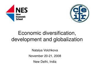 Economic diversification, development and globalization