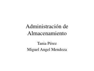 Administración de Almacenamiento