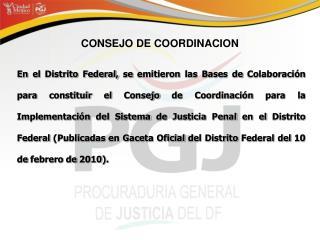 CONSEJO DE COORDINACION