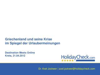 Dr. Axel Jockwer |  axel.jockwer@holidaycheck