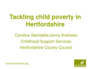 Tackling child poverty in Hertfordshire