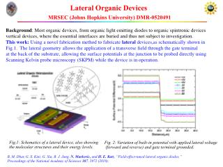Lateral Organic Devices MRSEC (Johns Hopkins University)  DMR-0520491