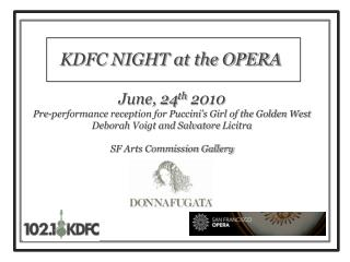 KDFC NIGHT at the OPERA