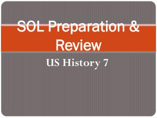 SOL Preparation & Review