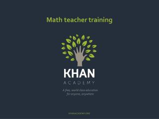 Math teacher training