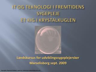 It og teknologi i  fremtidens sygepleje et kig i krystalkuglen