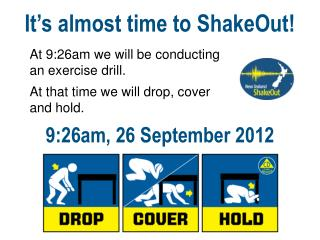 It's almost time to ShakeOut!