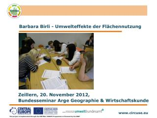 Barbara Birli - Umwelteffekte der Flächennutzung