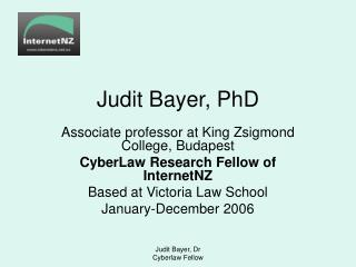 Judit Bayer, PhD