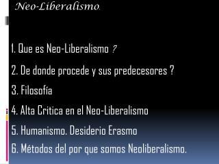 Neo-Liberalismo .
