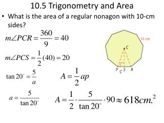 10.5 Trigonometry and Area