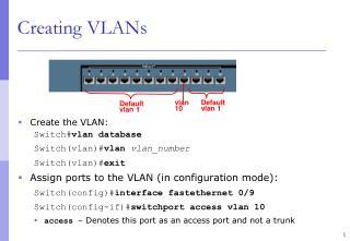 Creating VLANs