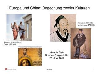 Europa und China: Begegnung zweier Kulturen