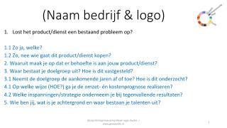 (Naam bedrijf & logo)
