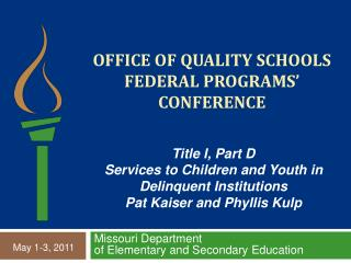 Office of quality schools federal programs  conference