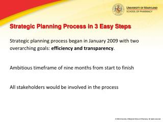 Strategic Planning Process in 3 Easy Steps
