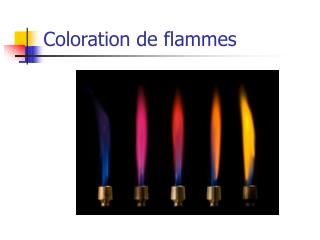 Coloration de flammes