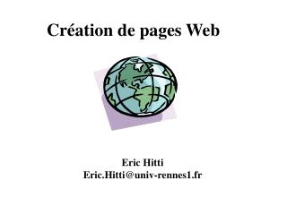 Cr ation de pages Web